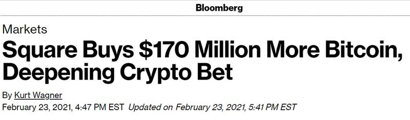 Square buys 170 million more Bitcoin